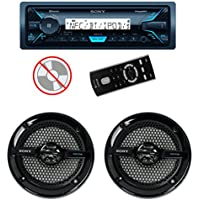 Sony DSXM55BT MP3/USB Marine Receiver Bluetooth + 2) 6.5 140W Speakers Black