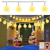 Cobbe Globe String Lights,112 LED Decorative String Lights Outdoor, Plug in String Lights, 57.4 Ft, Warm White Light for Patio Garden Party Xmas Tree Wedding Decoration