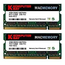 Komputerbay MACMEMORY Apple 8GB (2x 4GB) PC2-5300 667MHz DDR2 SODIMM iMac and Macbook Memory