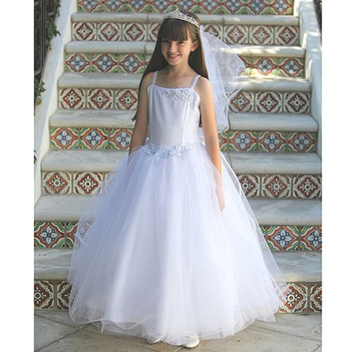Angels Garment Girls Sparkle Tulle First Communion Dress Shawl Set 8 from Angels Garment