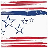 Nicole Home Collection Stars n' Stripes Paper Lunch Napkins, 40-Count