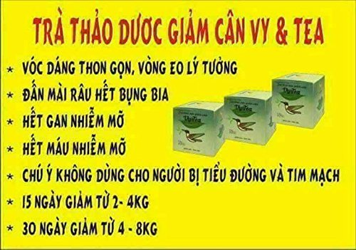 3 box (45 pack - Use 45 days) Trà Thảo Mộc giảm cân Vy & Tea -Vy & Tea - natural herbal tea help weight loss, sleep deep and purifying the body by Vy and Tea (Image #6)