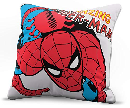 Jay Franco Marvel Avengers Amazing Spiderman Decorative Pillow Cover - Kids Super Soft 1-Pack Throw Pillow Cover - Measures 15 Inches x 15 Inches (Official Marvel Product)