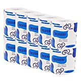 Ultra GentleCare Toilet Paper, 3-Ply Standard Rolls Toilet Paper Soft Skin-Friendly No Fragrance Bath Tissue Paper for Commercial Household