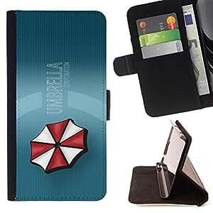 - Umbrella Sci Fi/ Personalizada del estilo del dise???¡¯???¡Ào de la PU Caso de encargo del cuero del tir???¡¯????n del s - Cao - For Samsung Galaxy S5 M