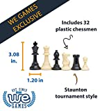 WE Games Roll-up Travel Chess Set in Carry Tube