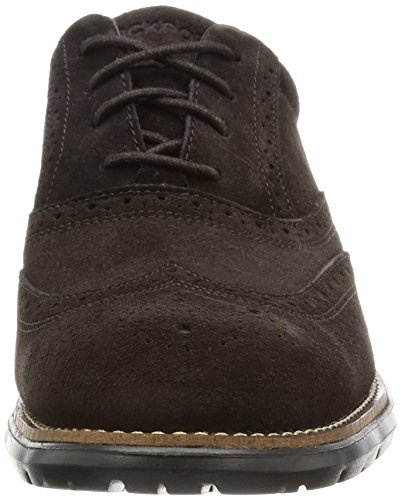 Rockport Total Motion Fusion Wing Tip - Zapatos de vestir Hombre Marrón - Brown (Dark Bitter Chocolate)