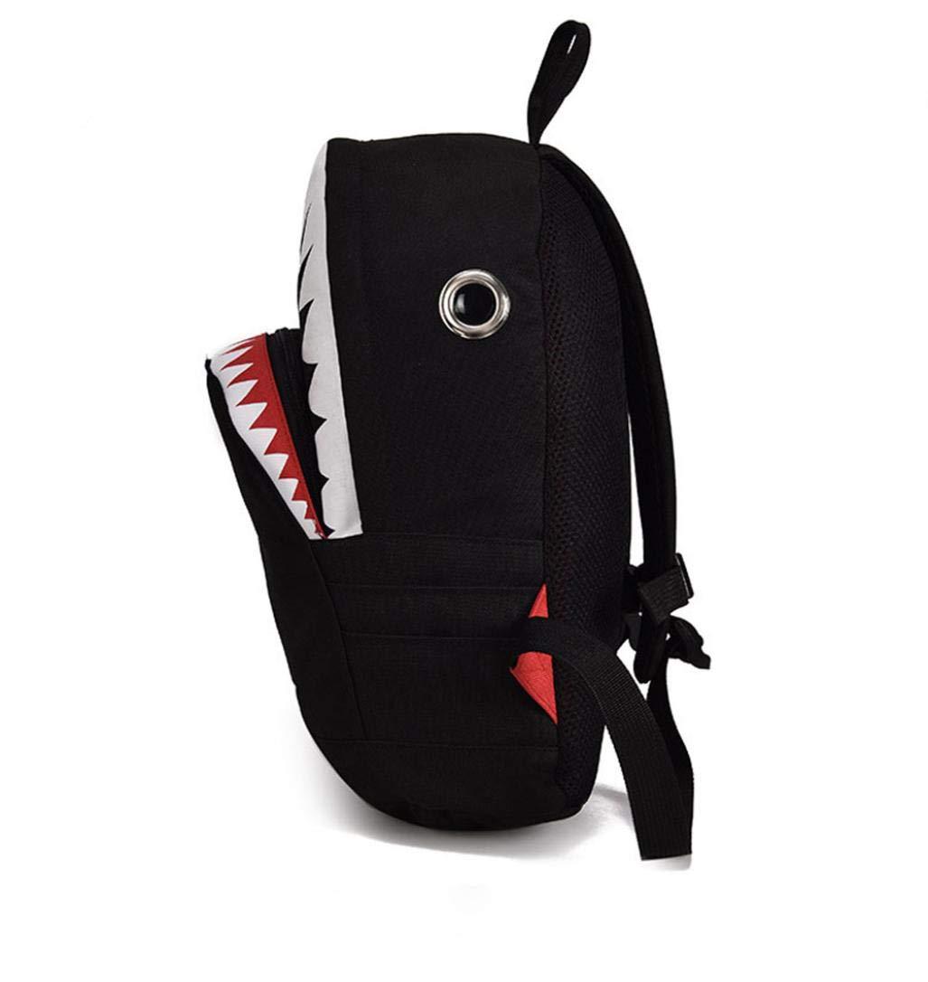 Clearance Sale Kids Boy Girl Cartoon Shark Preschool Backpack School Bookbags Shoulder Bag (L, Black) by Vicbovo (Image #5)