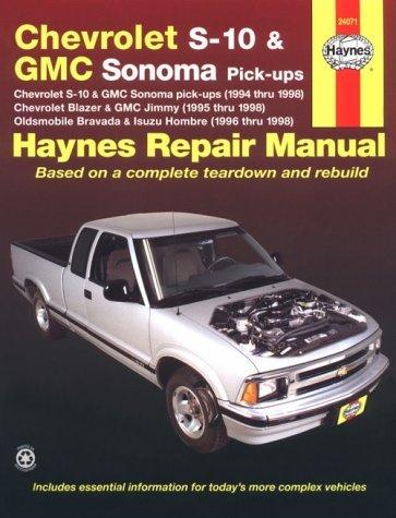 Haynes Chevrolet S-10 & Blazer, Gmc Sonoma & Jimmy, Oldsmobile Bravada, Isuzu Hombre Automotive Repair Manual: 1994 Thru 1998 (Haynes Automotive Repair Manuals) by Robert Maddox (1999-12-24)