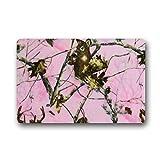 Realtree Pink Camo Shower Curtain Custom Pink Realtree Camo indoor/Outdoor Doormat Door Mat Non slip Non Slip Rubber Kitchen Rugs 23.6 X 15.7 Inch