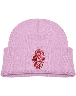 Cute Fingerprint Printed Toddlers Baby Winter Hat Beanie