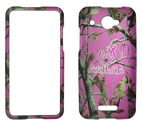 (2D Pink Camo GHT Pine HTC DROID DNA 4G LTE X920E Verizon Hard Case Snap-on Hard Shell Protector Cover Phone Hard Case Case Cover Rubberized Frosted Matte Surface Hard Shells)