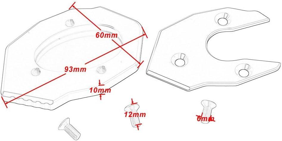 B/équille de b/équille en aluminium CNC pour Kawasaki Z650 Z900 Plaque d/Élargisseur de Support Lat/éral pour Z800 2013-2016 pour Z1000 2010-2017 Bleu