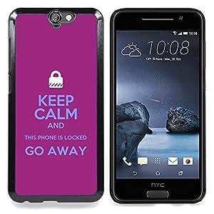 Stuss Case / Funda Carcasa protectora - Cerrado Manos Candado púrpura texto - HTC One A9