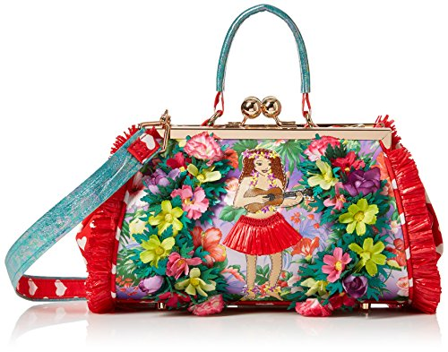 Irregular Choice Do The Hula Bag - Borse a mano Donna, Multicolore (Red), 16x18x28 cm (W x H L)