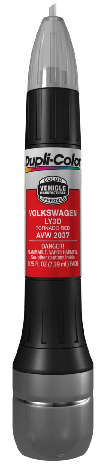 Dupli-Color AVW2037 Tornado Red Volkswagen Exact-Match Scratch Fix All-in-1 Touch-Up Paint - 0.5 oz.