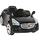 Best Choice Products 12V Kids Ride On Sports Car RC Remote Control Electric Battery Power w/ Radio, AUX Input - Black
