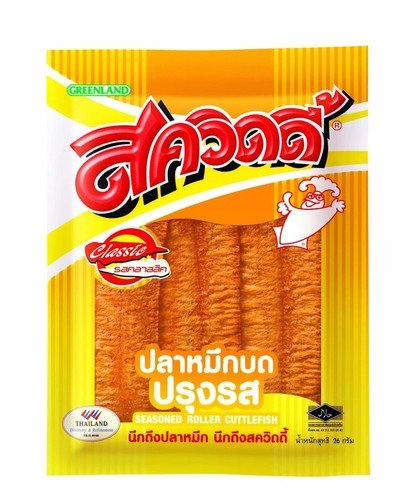 22 Grams SQUIDY Brand Seasoned Roller Cuttlefish Flavour Snack 's Thailand