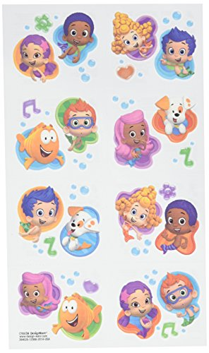 Halloween Bubble Guppies (Aqua Awesome Bubble Guppies Party Temporary Tattoo Favours, Paper, 2