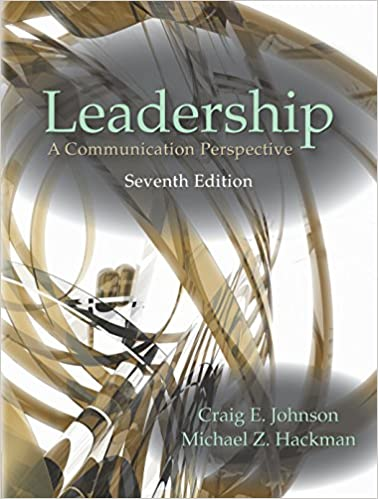 leadership a communication perspective pdf