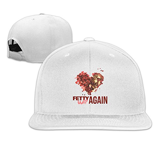 Unisex,Designer White Fetty Wap Again LYRICS Hip-Hop Baseball Hat Snapback Baseball Cap