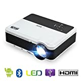 Android 6.0 WiFi Bluetooth Projector Support Full HD 1080P Wireless Screen Mirror 3900