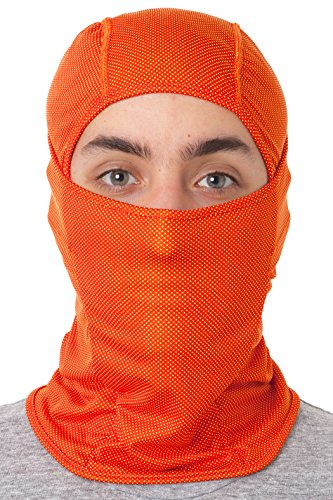 D2D Premium Balaclava - Multipurpose Full Face Color Mask - Outdoor Cold Weather Protection Ski Fleece (Orange)