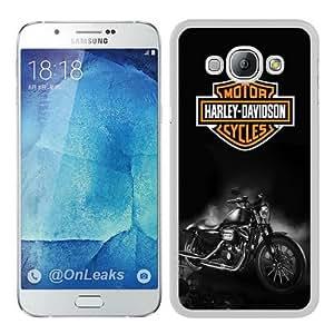Fashionable A8 Case,Harley Davidson Dark Custom White Phone Case For Samsung Galaxy A8 Case