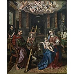 The High Quality Polyster Canvas Of Oil Painting 'Maerten De Vos - Saint Luke Painting The Madonna, 1602' ,size: 20x25 Inch / 51x63 Cm ,this Cheap But High Quality Art Decorative Art Decorative Prints On Canvas Is Fit For Gym Gallery Art And Home Artwork