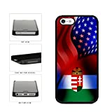 BleuReign(TM) Hungary and USA Mixed Flag Plastic Phone Case Back Cover Apple iPhone 5 5s and iPhone SE
