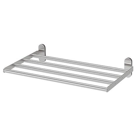 Mensole Ikea Acciaio.Ikea Asia Brogrund Mensola Con Portasciugamani In Acciaio