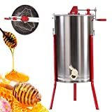 Ridgayard 3 Frame Stainless Steel Honey Extractor Honey Comb Spinner Extractor Manual Beekeeping Supply Beehive Processing Extraction Unit