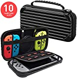 Meqi Protective Hard Shell Slim Travel Carry Case - Black - Nintendo Switch