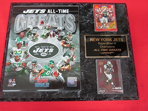 - New York Jets All Time Greats 2 Card Collector Plaque w/8x10 Photo