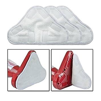 3 x Almohadillas de Microfibra, 3 x Almohadillas de Microfibra Coral 17 Taylorhe Autocollants Universal Lavable Larga duraci/ón Corbata fijaci/ón Pack de 6 Almohadillas para Escoba de Vapor