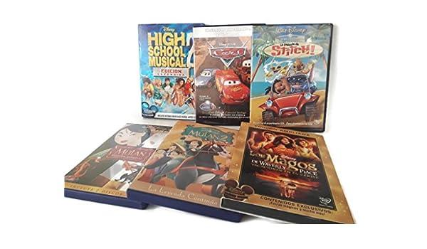 Pack de 6 películas DVD clasicos Disney _ Cars, HSM2, Mulan,..._ ...
