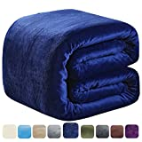 SOFTCARE Fleece Blanket Twin Size 350GSM Throw Blanket Super Warm Soft The Bed Sofa Lightweight Royal Blue 66'' 90''