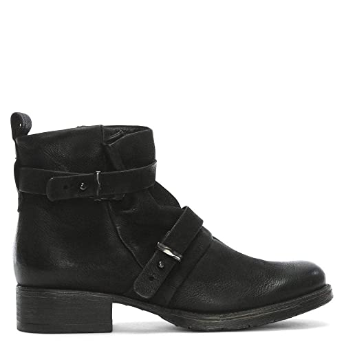 da4edcae7 Daniel Maxwell Black Leather Two Strap Biker Boots: Amazon.co.uk ...