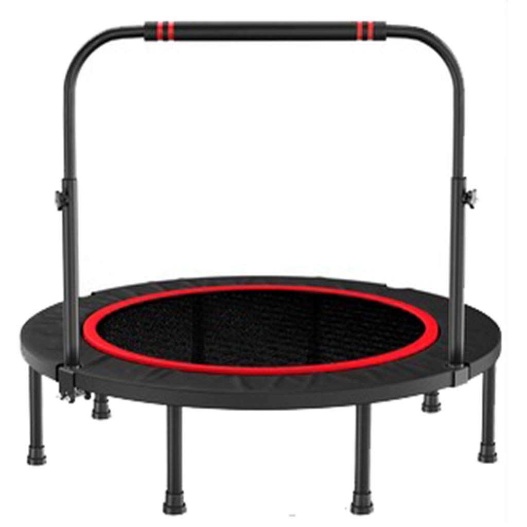 ポータブルフィットネストランポリン - 弾性ベッド - 調節可能な手すり - 折りたたみ式 - 大人と子供のスポーツトレーナー - 48インチ   B07RTXP5P3
