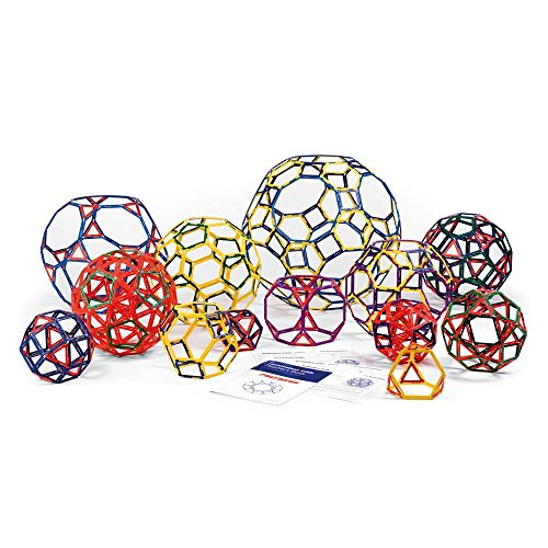 Polydron Frameworks Open Geometric Shapes with Triangles, Squares, Hexagons, Pentagons and Activity Book (Set of 266 pieces)