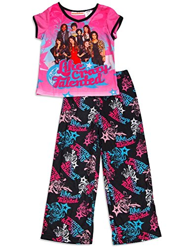 Nickelodeon - Little Girls' Like Crazy Talented Short Sleeve Pajamas, Pink, Black 31241-4/5 (Nickelodeon Victorious Items)