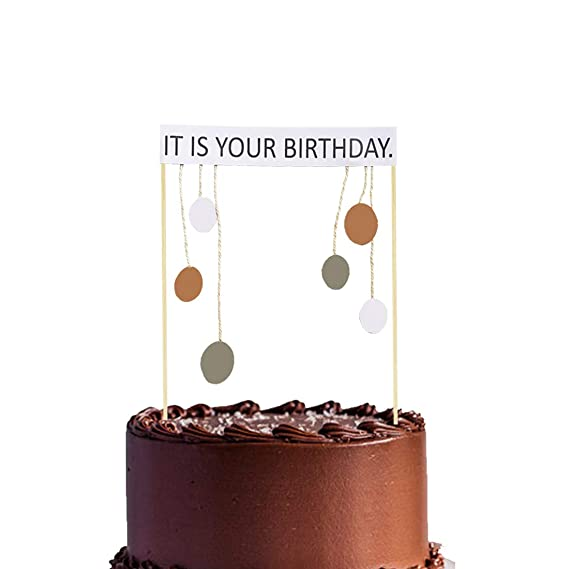 It Is Your Birthday Cake Topper Office Theme Dwight Schrute Birthday Party Supplies Decorations Amazon In Grocery Gourmet Foods