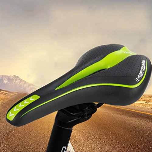 RUNACC Bike Front Seat Cushion Bicycle Hollow Cushion Cycling Soft Padded Saddle for Road Bike, Mountain Bike and Track Bike