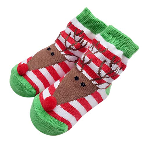 Celendi Baby Knit Socks Lovely Cute Mesh Lace Christmas Princess Bow Socks (S, As Show) -