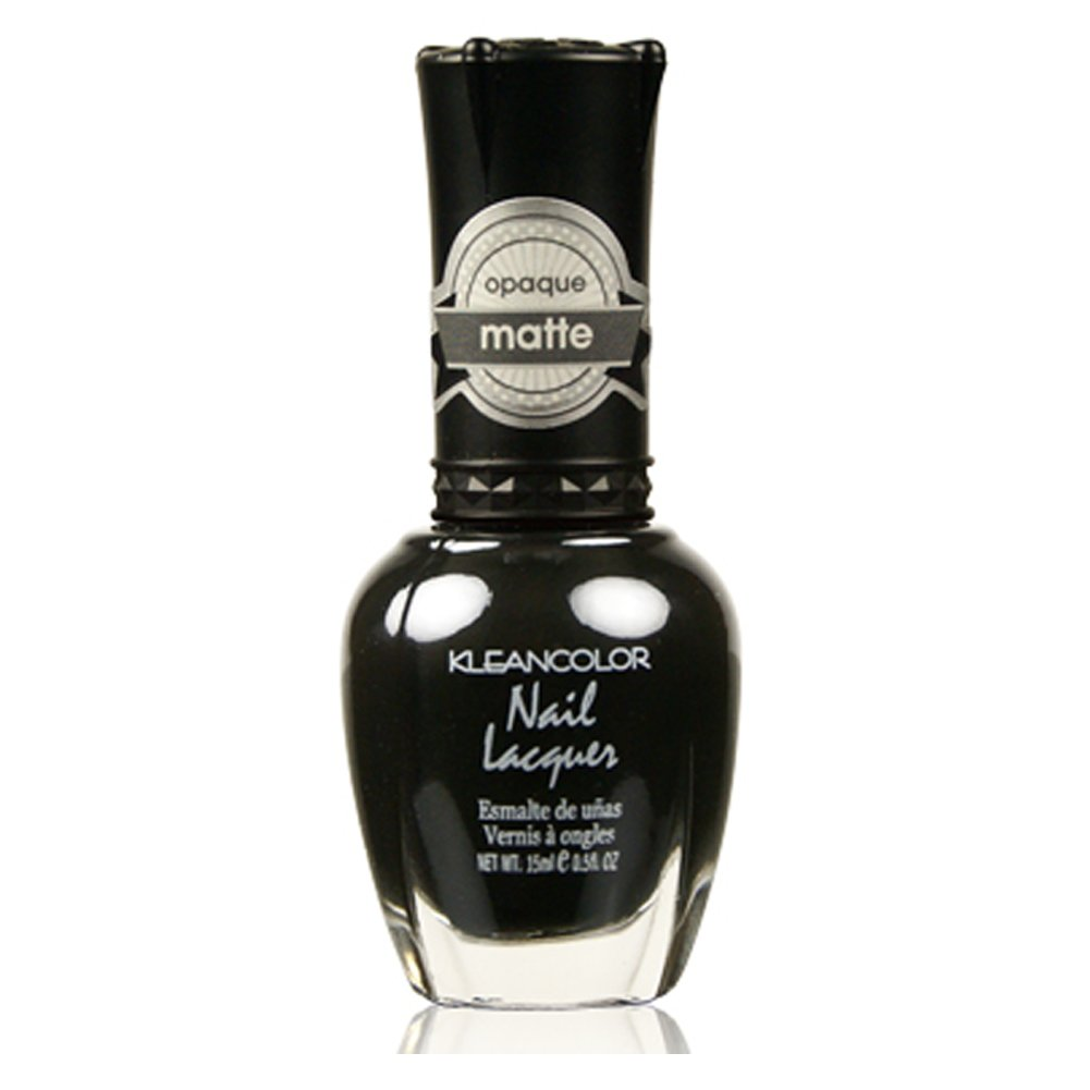 Amazon.com : Kleancolor Matte Finish Nail Polish Matte Black : Beauty