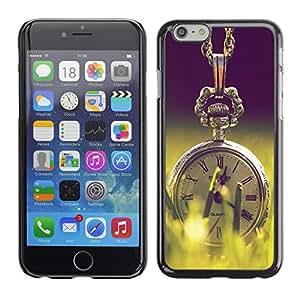 SHIMIN CAO- Dise?o Caso duro de la cubierta Shell protector FOR Apple iPhone 6 6S 4.7- Retro Clock cartoon