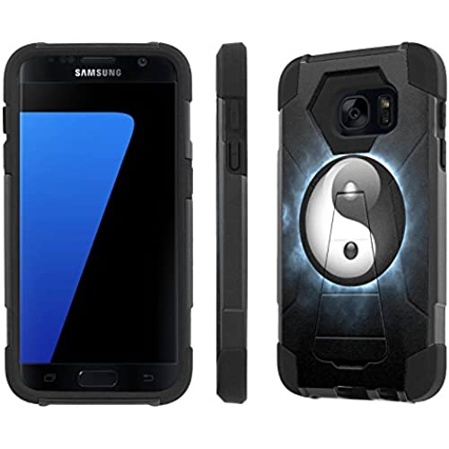 S7 / GS7 [5.1 Screen]Case, [NakedShield] [Black/Black] Armor Tough Shock Proof Kickstand Case - [Ying Yang] for Sales