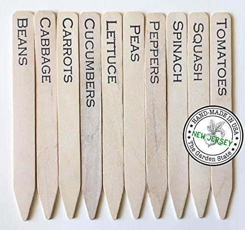Plantid Assorted 10-Pack Eco-Friendly Farmhouse Decor Outdoor Vegetable Garden Stakes, Plant Labels, Plant Tags, Garden Markers, Gardening Accessories, Gardening Gifts - 6