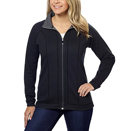 - Kirkland Signature Women Reversible Raglan Sleeve Full Zip Jacket Black XX-Large