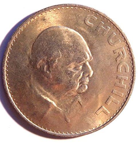 1965 UK Great Britain English Crown (5 Shillings) Winston Churchill Commemorative Coin Uncirculated - Churchill Crown